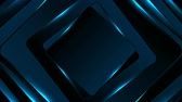 geometryczne : Neon glowing blue squares abstract motion background
