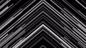 минимализм : Retro tech abstract motion background with monochrome neon laser arrows Стоковые видеозаписи