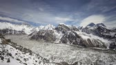 himalaia : Timelapse view from Kala Patthar, Everest region in Himalaya, Nepal