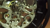 ainda : Closeup old pocket watch is rotating. Concept of valuable time and no time off.
