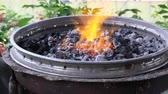 karbon : Fire up on charcoal On the fireplace