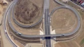 ring road : Aerial 4k view of highway intersection from a drone