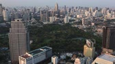 Bangkok, Thailand, March 2016: Aerial view of the city at sunset.