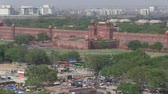 Old Delhi, India, November 2011: Aerial view of Red Fort.