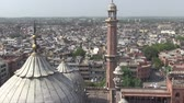 Aerial view of Old Delhi from the Jama Masjid Mosque. Stockvideo