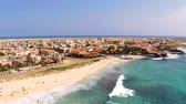 sal : Aerial view of Santa Maria beach in Sal Cape Verde - Cabo Verde