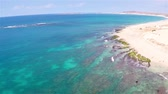 Aerial view of  Praia de  Chaves Beach in Boa Vista Cape Verde  Cabo Verde