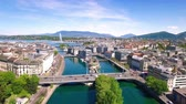 4K Aerial footage of Geneva city  in Switzerland -UHD
