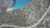 4k Aerial view of Navagio beach Shipwreck view in Zakynthos (Zante) island, in Greece - Log Dostupné videozáznamy