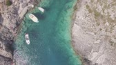 oturum : 4K ungraded Aerial view of Porto limnionas beach in Zakynthos (Zante) island, in Greece - Log