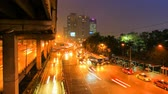 city lights : Traffic in the city. There are several freeway lane. Stock Footage