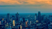 skyline : Bangkok city scape in evening Stock Footage