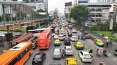 opstopping : Bangkok, Thailand - 11 June 2019: Ratchaprasong Road, rush hour traffic.