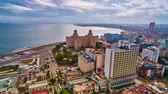 Havana and Malecon, time lapse
