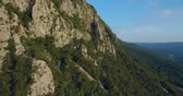 vrcholy : aerial footage of Mountain Nanos above Vipava valley covered with forest