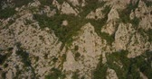 aerial footage of Mountain Nanos above Vipava valley covered with forest