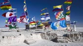 bolivia : Country flags type of Salar de Uyuni Salt Lake