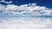 zachód słońca : View of the salar de Uyuni Salt Lake