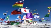 Южная Америка : Country flags type of Salar de Uyuni Salt Lake
