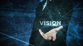 business man globalization and vision concept