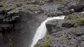 macera : little waterfall in Faroe Island Stok Video