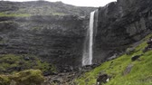 a view : Waterfall Fossa in Faroe Island