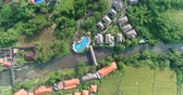 balinese : Aerial view of tropical village and resort in Bali, Indonesia