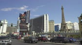 las vegas strip : Heavy traffic on Las Vegas boulevard. Las Vegas strip junction - August 2017: Las Vegas, Nevada, US