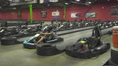 eşofman : Go cart starting. Go cart racing track - August 2017: Allentown, Pennsylvania, US