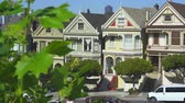 терраса : Painted Ladies houses, Haight-Ashbury district. Slider shot - San Francisco
