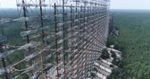 катастрофа : Aerial shot of Duga horizon radar system - 30km Chernobyl exclusion zone, Ukraine