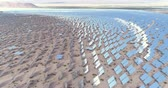 nevada : flight over of solar panels, solar power plant - solar farm, Nevada