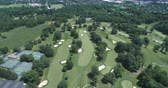 pennsylvania : Aerial view of golf course. Flight over of American golf links - Pennsylvania, USA