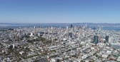 rooftop : Aerial view of San Francisco, California. Cityscape, skylines, buildings - August 2017: San Francisco, California, US Stock Footage