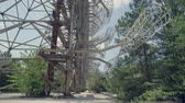 anten : Horizon radar system in Duga. Chernobyl nuclear disaster, catastrophe 30km Chernobyl, exclusion zone