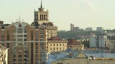 Киев : Downtown Kiev cityscape. Rooftops and buildings in city center - June 2017: Kiev, Ukraine