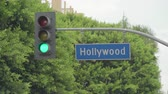 hollywood sign : Hollywood blvd street sign Los Angeles California, US