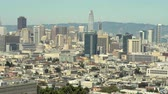 suburbano : Downtown San Francisco cityscape, skyline - August 2017: San Francisco, California, US