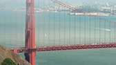подвесной : Misty golden Gate bridge - August 2017: San Francisco, California, US