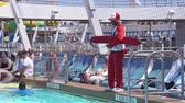 cankurtaran : Lifeguard at the pool - Port Everglades, Fort Lauderdale, Florida, US Stok Video