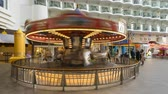 paluba : Time lapse shot of a carousel on a cruise ship promenade - Harmony of the Seas Dostupné videozáznamy