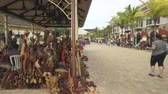 резной : Jamaica, caribbean city center, shopping street - Falmouth, Jamaica Стоковые видеозаписи
