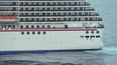 varanda : Cruise ship sailing at sea - March 2018: Falmouth, Jamaica Vídeos