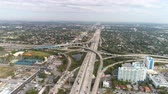 i city : Aerial shot of highway intersection I-95. Aerial view of Miami freeway junction.