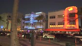 slider bar : Illuminated Ocean Drive in Miami Art deco district. South Beach nightlife