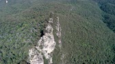 разрыв : Aerial view of Blue mountains, three sisters cliff - Australia Стоковые видеозаписи