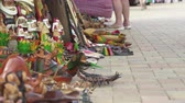 local : Caribbean wood carvings store - Falmouth, Jamaica Stock Footage