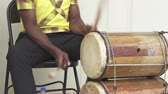 cerimonial : Traditionally dressed caribbean musicians, band. Jamaican street music - Jamaica
