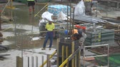 rusztowanie : People working in construction site - Industry construction - March 2017: Sydney, Australia Wideo