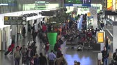 gangway : Crowd people in the airport terminal - Cabo San Jose airport, Mexico
